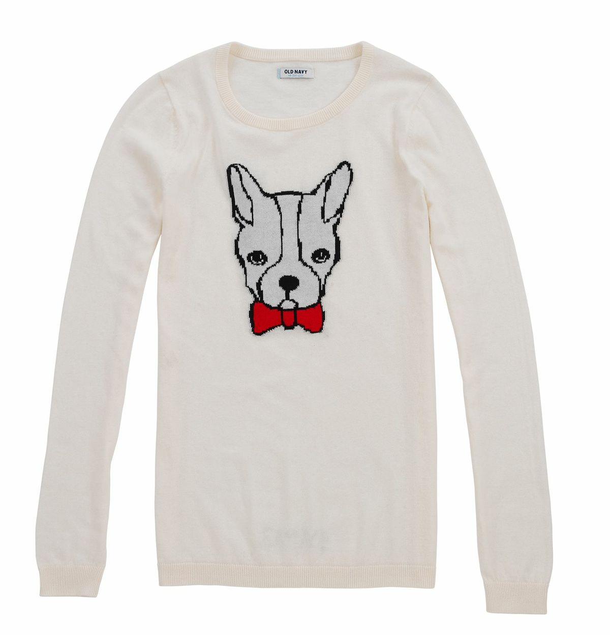 We're already imagining how sweet Old Navy's bulldog sweater ($27) will look with our skinny jeans and loafers.