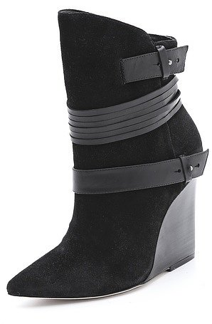Alice + olivia Owen Suede Wedge Boots