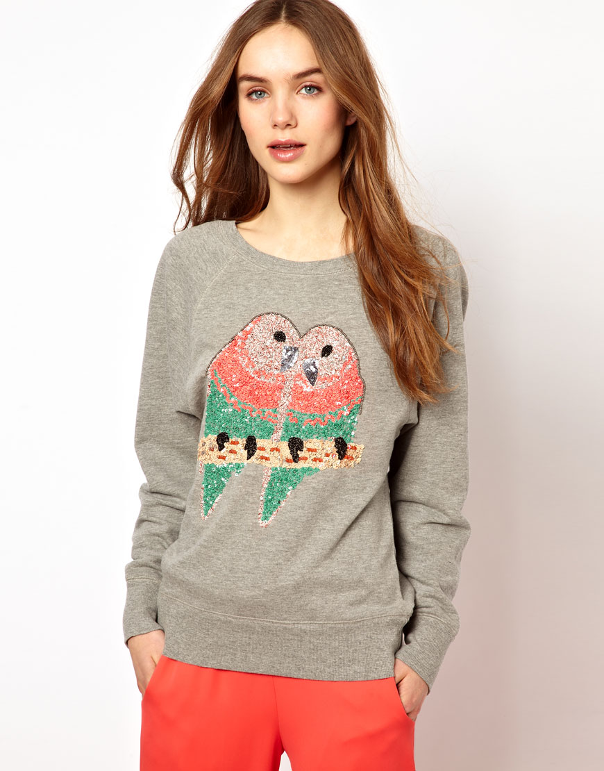 Embrace the tropics year-round; just put a parrot on it with this French Connection Sequined Bird Sweater ($113).