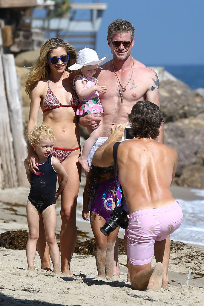 Eric Dane and Rebecca Gayheart posed for a family photo with their daughters, Billie and Georgia.