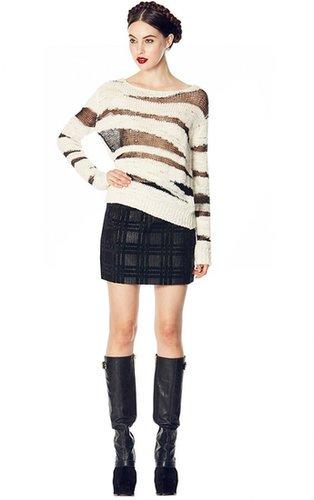 Elana Velvet Detail Mini Skirt