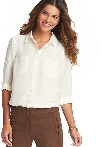 Patch Pocket Button Front Blouse