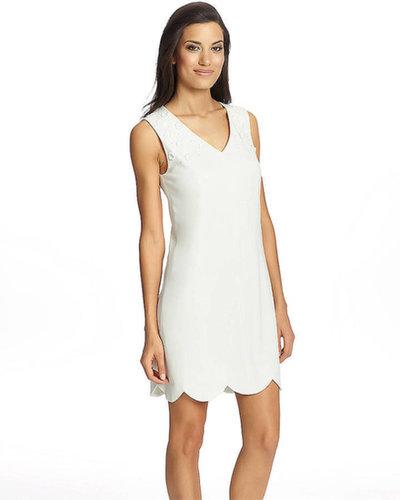 CYNTHIA STEFFE Scalloped Shift Dress