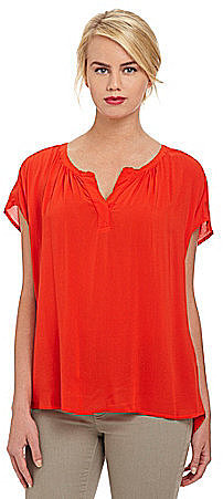 Two By Vince Camuto Split-Neck Top
