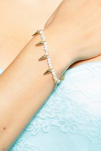 Spike Charm Bead Bracelet