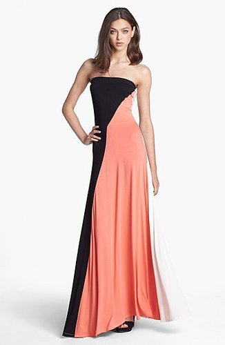 FELICITY & COCO 'Aimery' Colorblock Jersey Maxi Dress