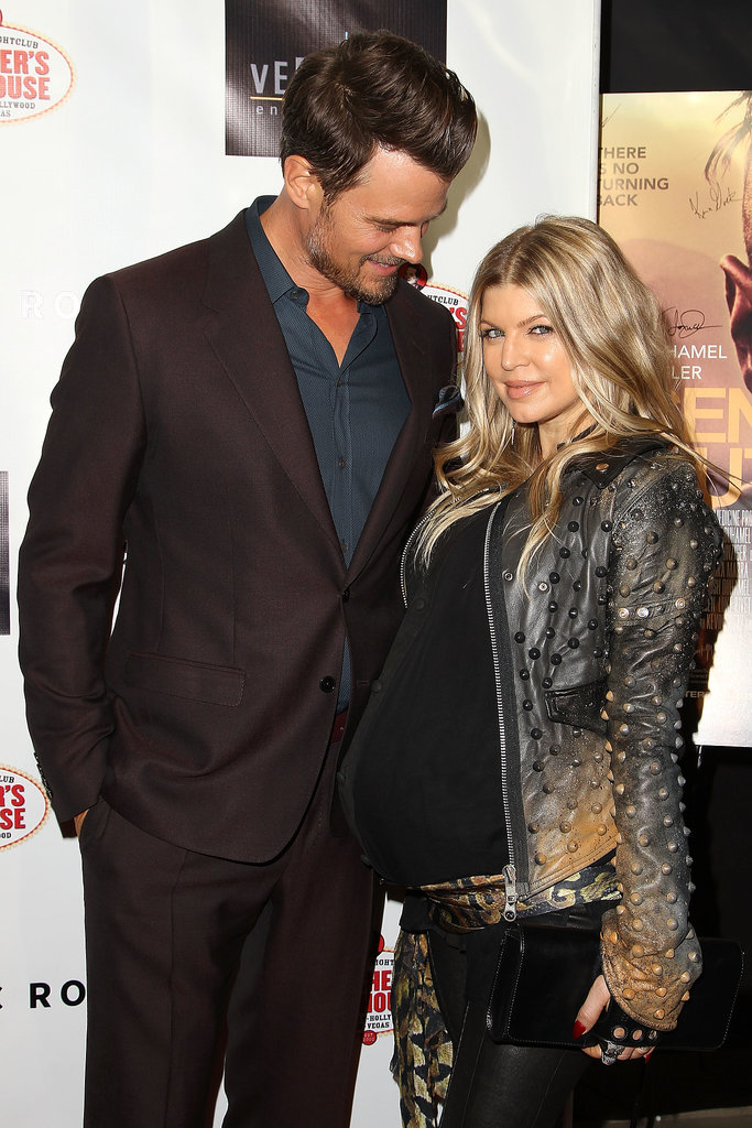 Josh Duhamel doted on his pregnant wife, Fergie, at the LA premiere of his newest flick, Scenic Route.