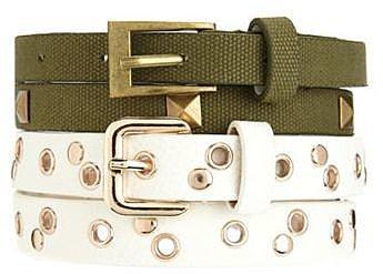 Military Skinny Belt Duo