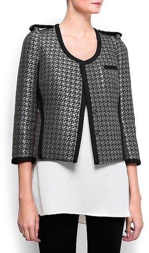 Metallic houndstooth jacket
