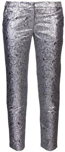 Jenni Kayne metallic print straight trouser