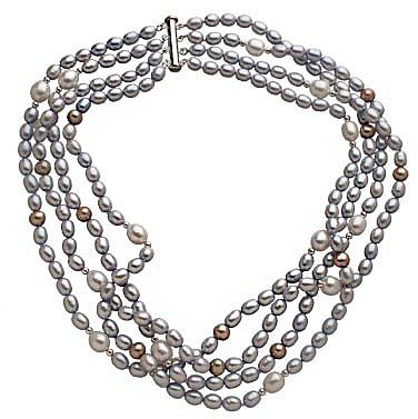 M Pearl Baby Blue Multi Layer Pearl Necklace