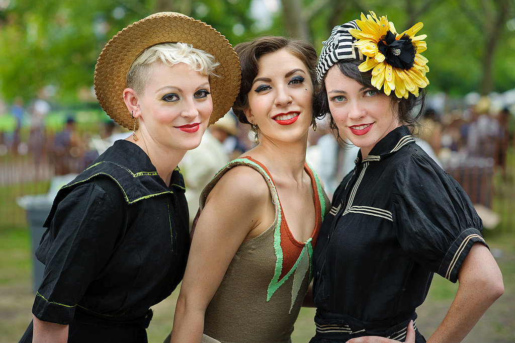 A done-up trio rocked red lipstick that would've just been coming into vogue back in the day. Photo: Jane Kratochvil