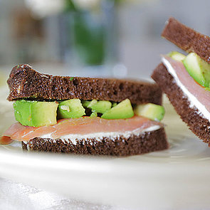 Smoked Salmon Sandwich With Avocado and Wasabi