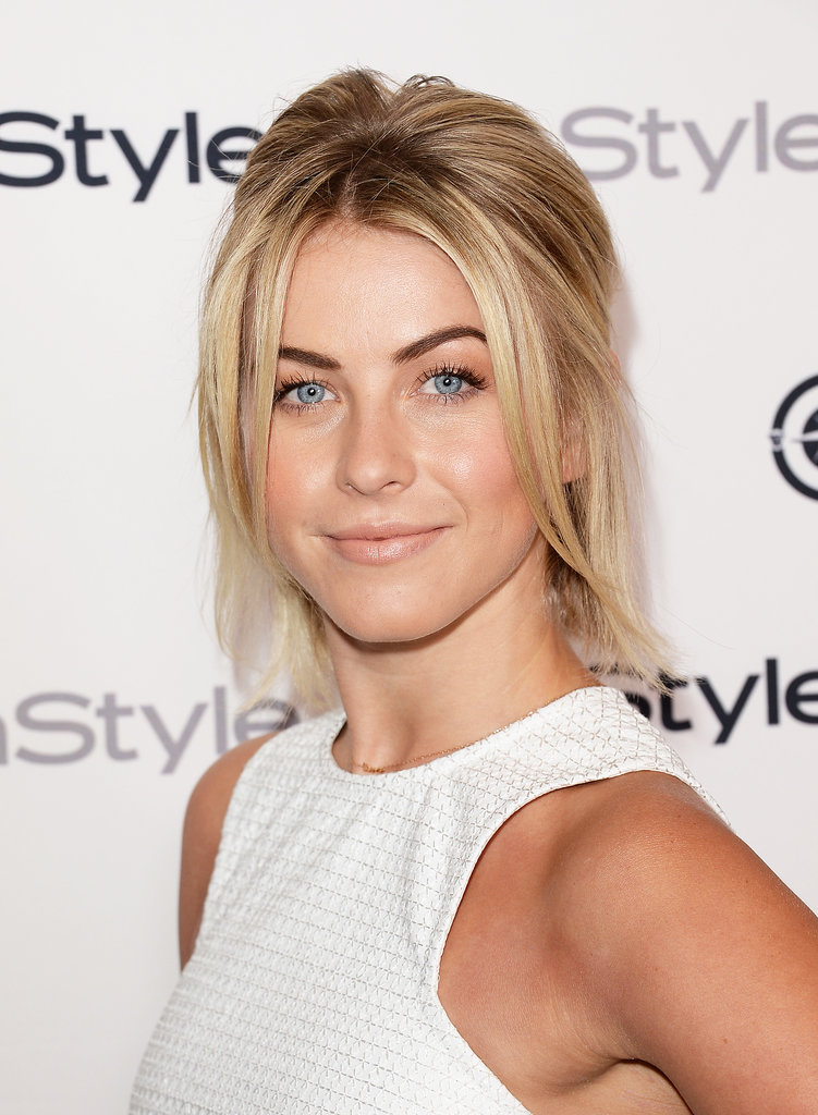 Styling her bob in a half-up 'do, Julianne Hough rocked a bold brow and nude lips.