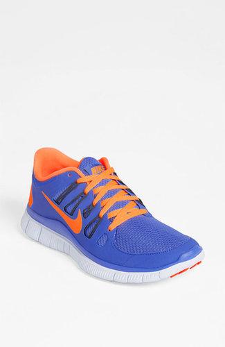 Nike 'Free 5.0' Running Shoe (Women) Wolf Grey/ Pink 10 M