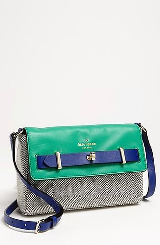 kate spade new york 'bourbon street - fabric carmine' shoulder bag Black/ Beryl Green