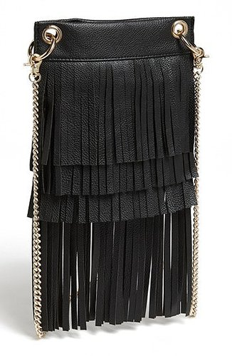 BP. Layered Fringe Crossbody Bag (Juniors) Black One Size