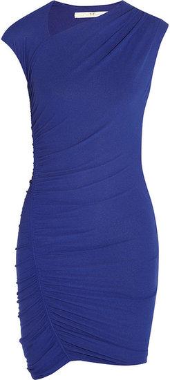 Halston Heritage Asymmetric stretch-crepe jersey dress