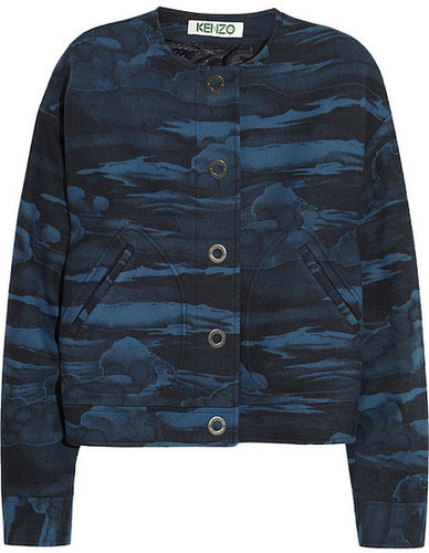 KENZO Cloud-print wool-blend jacket