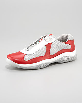 Prada Leather/Mesh Sneaker