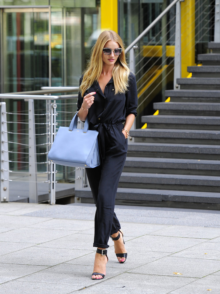 Rosie Huntington-Whiteley in Gerard Darel, Giorgio Armani and Michael Kors