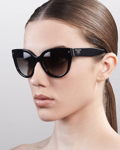 Prada Heritage Cat-Eye Sunglasses, Black