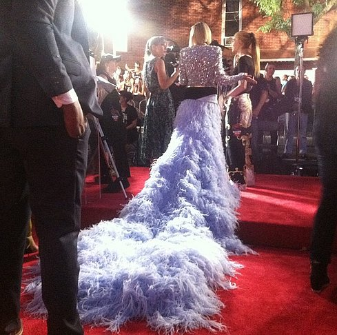 Giving us the full 180-degree view, MTV got up close with Rita Ora's floaty gown. Source: Instagram user mtvstyle