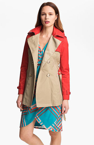 Steve Madden Colorblock Trench Coat Large
