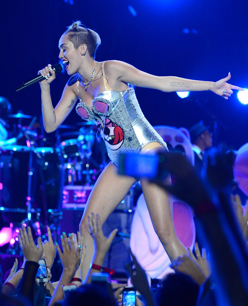 Miley Cyrus gave a controversial performance.