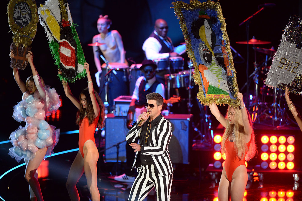 Miley Cyrus and Robin Thicke collaborated at the VMAs.