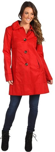 Ivanka Trump - Grosgrain Trim Trench C1001 (Lipstick) - Apparel