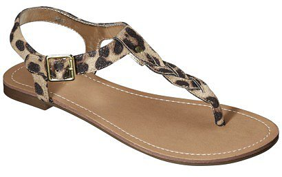Women's Merona® Erin Braided Upper Sandal - Leopard