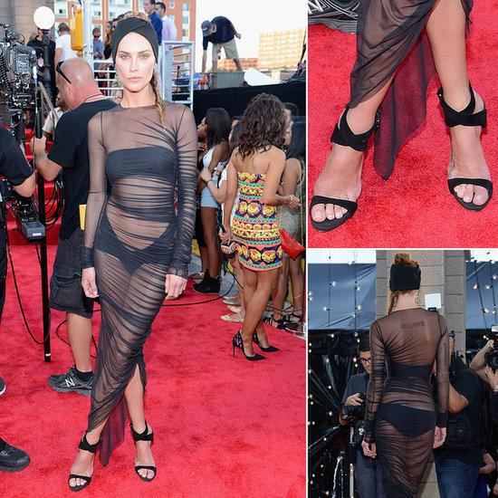Erin Wasson Hits The 2013 MTV VMAs in Sheer Black- Like It?