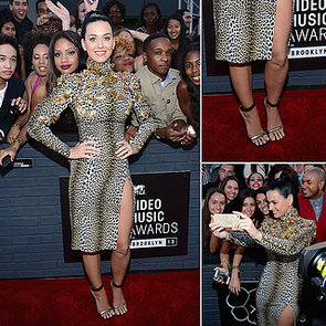 Katy Perry Roars in Emanuel Ungaro at the 2013 MTV VMAs