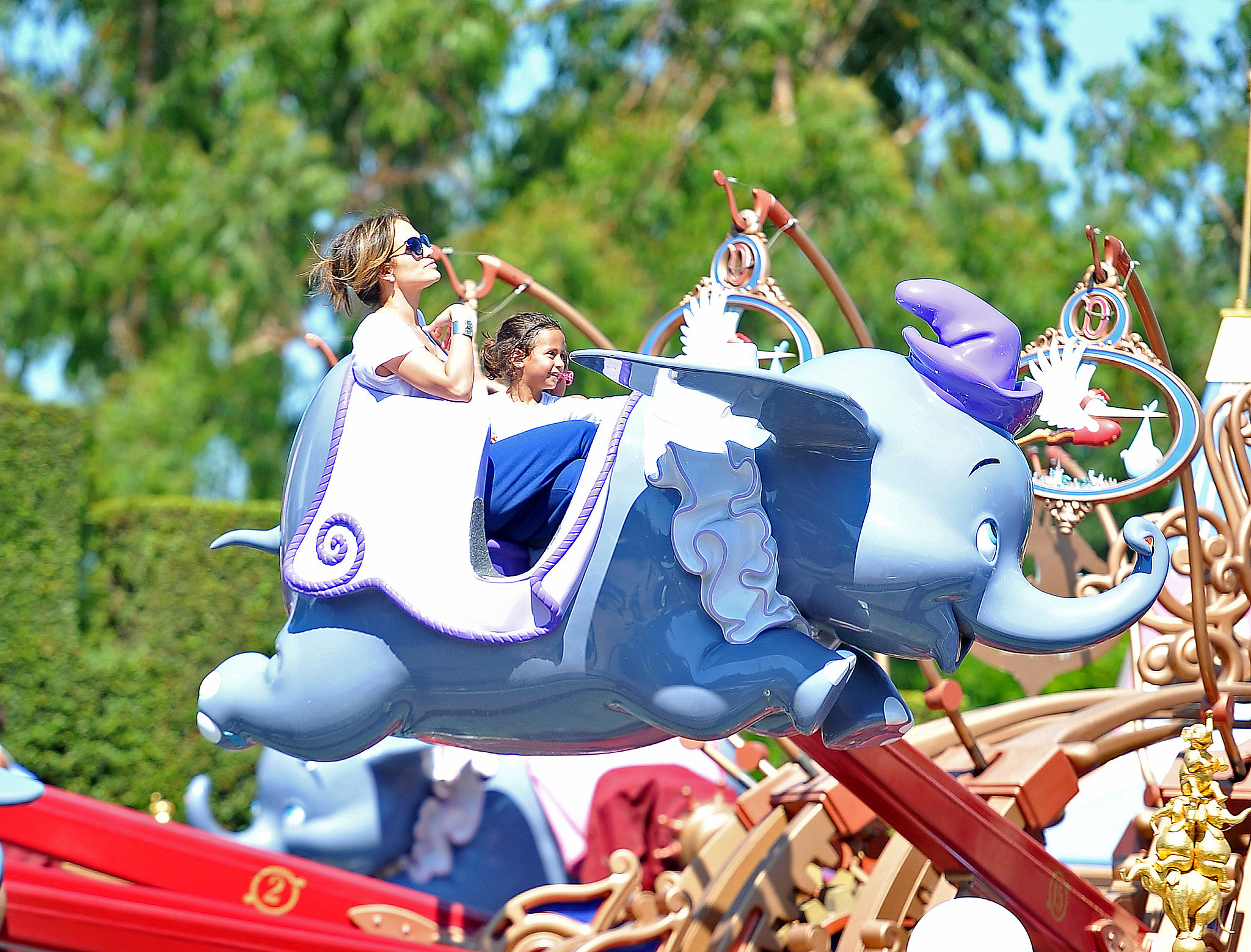 Jennifer Lopez and her daughter, Emme, enjoyed a ride together at Disneyland.
