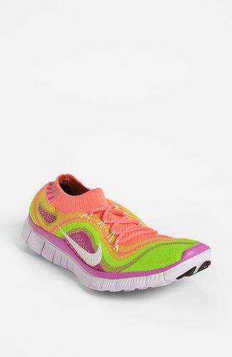 Nike 'Free Flyknit' Running Shoe (Women) Turquoise/ White/ Blue 6.5 M