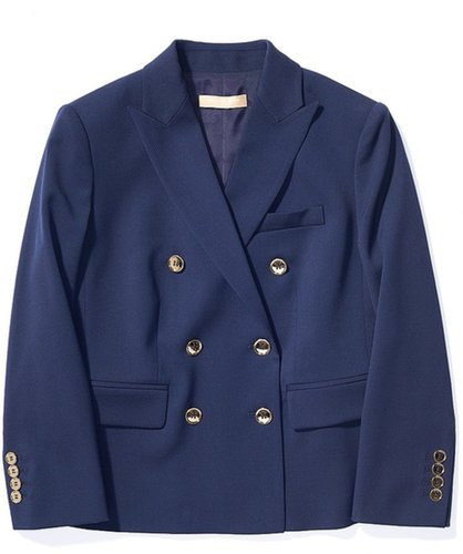 Stretch Wool Gabardine Double Breasted Jacket