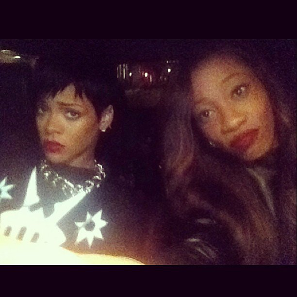 Rihanna seemed unimpressed by the VMAs even before arriving there! Source: Instagram user mforde11