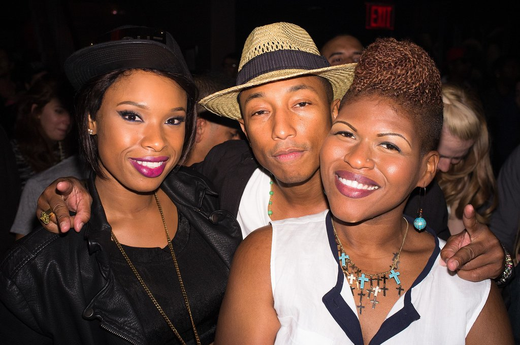 Pharrell Williams and Jennifer Hudson posed together.