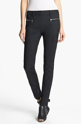 3.1 Phillip Lim Skinny Cargo Pants Womens Soft Black Size 4 4