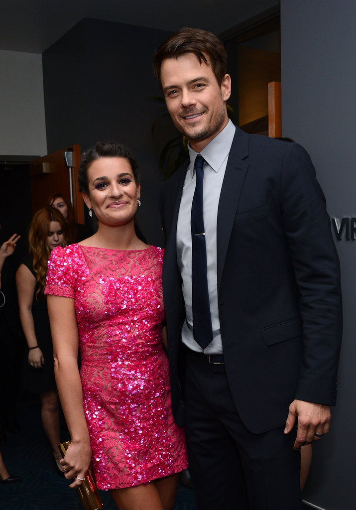 She posed with Josh Duhamel backstage during the People's Choice Awards in LA in January 2013.