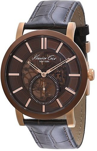 Kenneth Cole New York Slim Automatic Watch, 43mm Brown/ Rose Gold