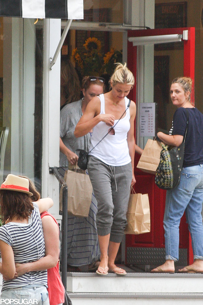 Cameron Diaz and Drew Barrymore both visited Amagansett's prized coffee shop and bakery Mary's Marvelous during girls' getaway in August.