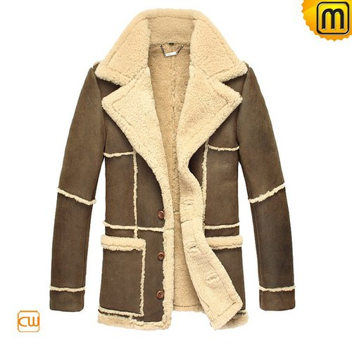 Sheepskin Leather Fur Coat CW819431