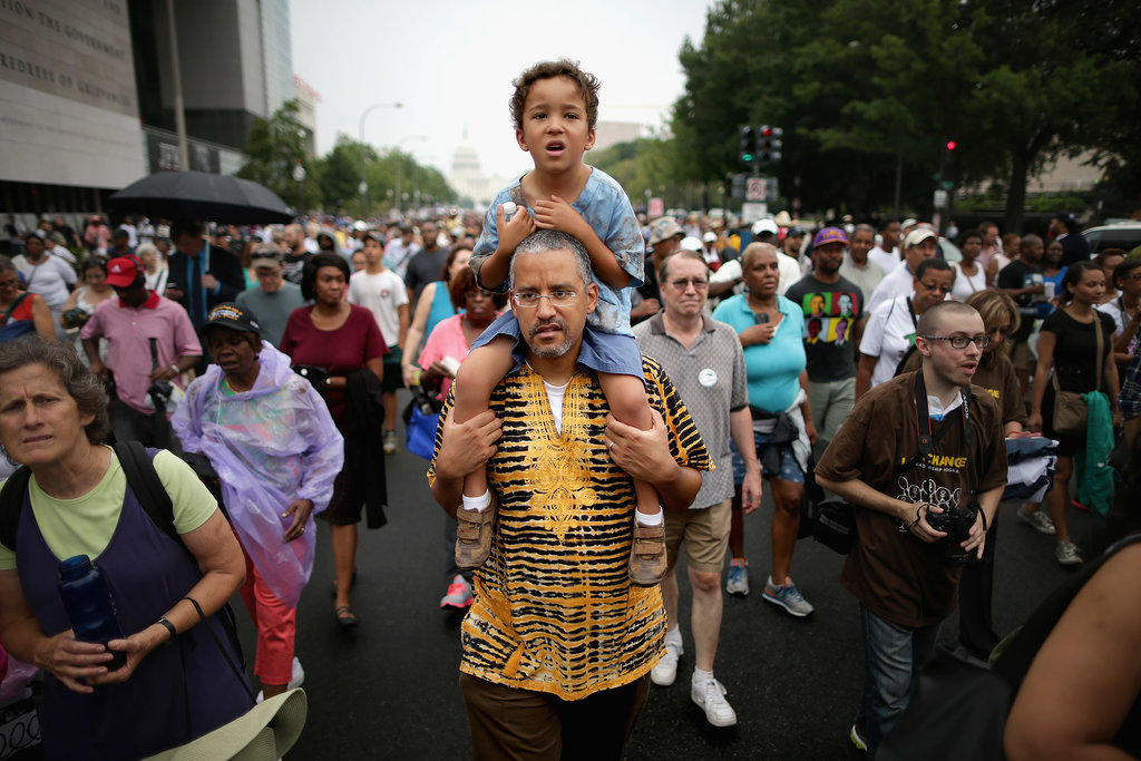 Thousands of people took to the streets to march in Washington DC.