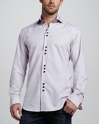 Bogosse Matis Dot-Print Sport Shirt