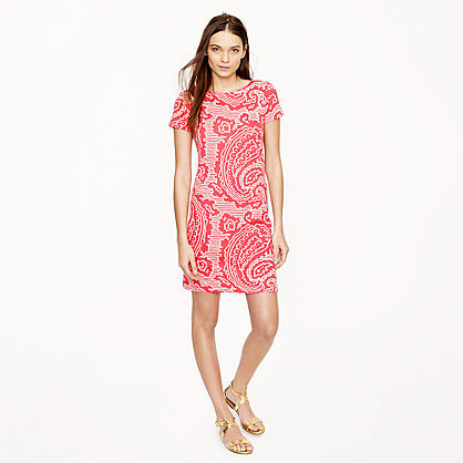 T-shirt dress in oversize paisley