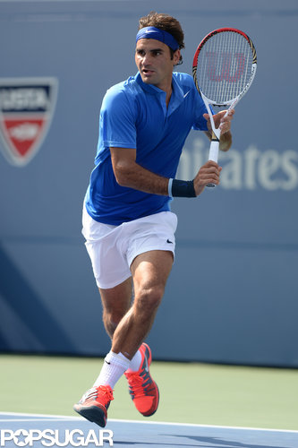 Roger Federer stayed cool on the court.