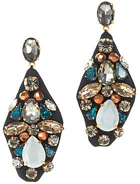 Embroidered jewel earrings