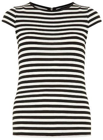 Black and white stripe tee